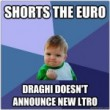 Shorts The Euro – Draghi Doesn't Announce New LTRO